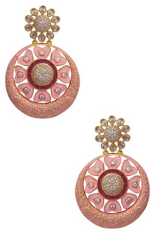 Circular kundan earrings