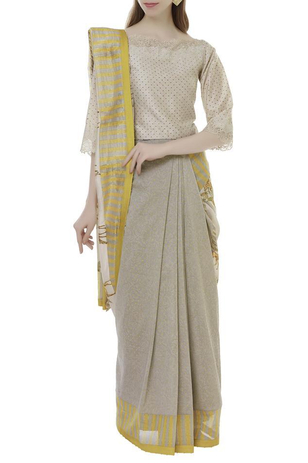 Chanderi Printed saree blouse