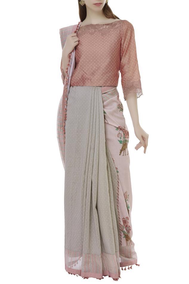 Chanderi Saree Blouse
