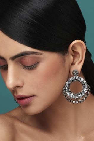 Deepa Gurnani Circular Earrings