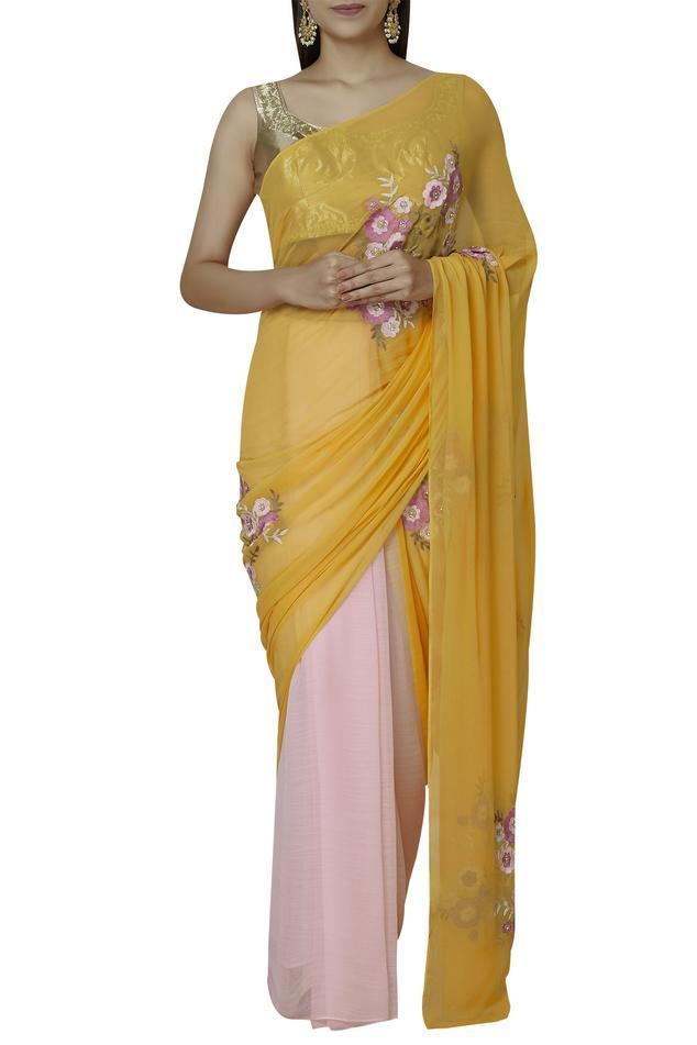 Embroidered Saree Set