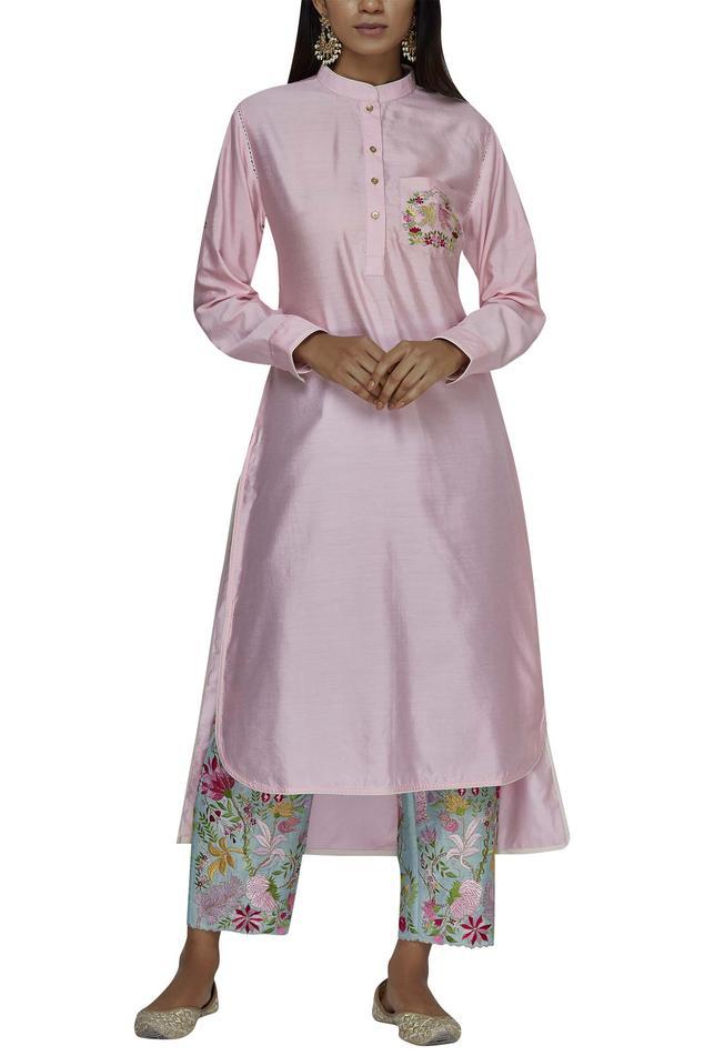 Silk Chanderi Kurta Set