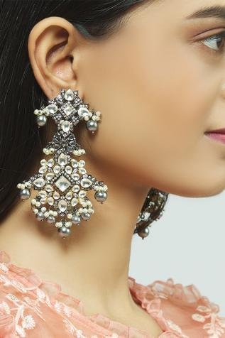 Kundan Dangler Earrings
