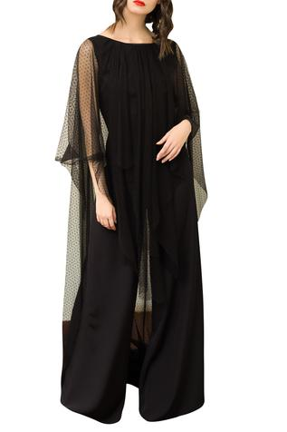 Flared Jumpsuit with Cape