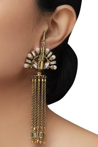 Amrapali Dangler Peacock Earrings