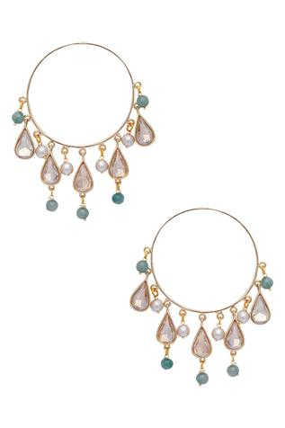 Crystal Drop Baali Earrings