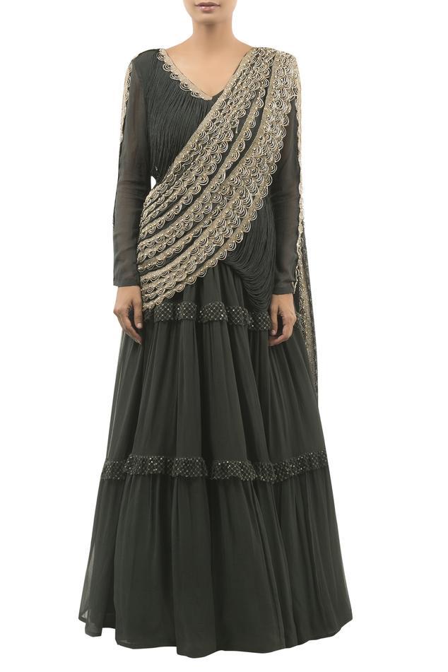 Draped Anarkali Gown