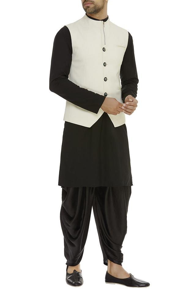 Zipper detailed nehru jacket