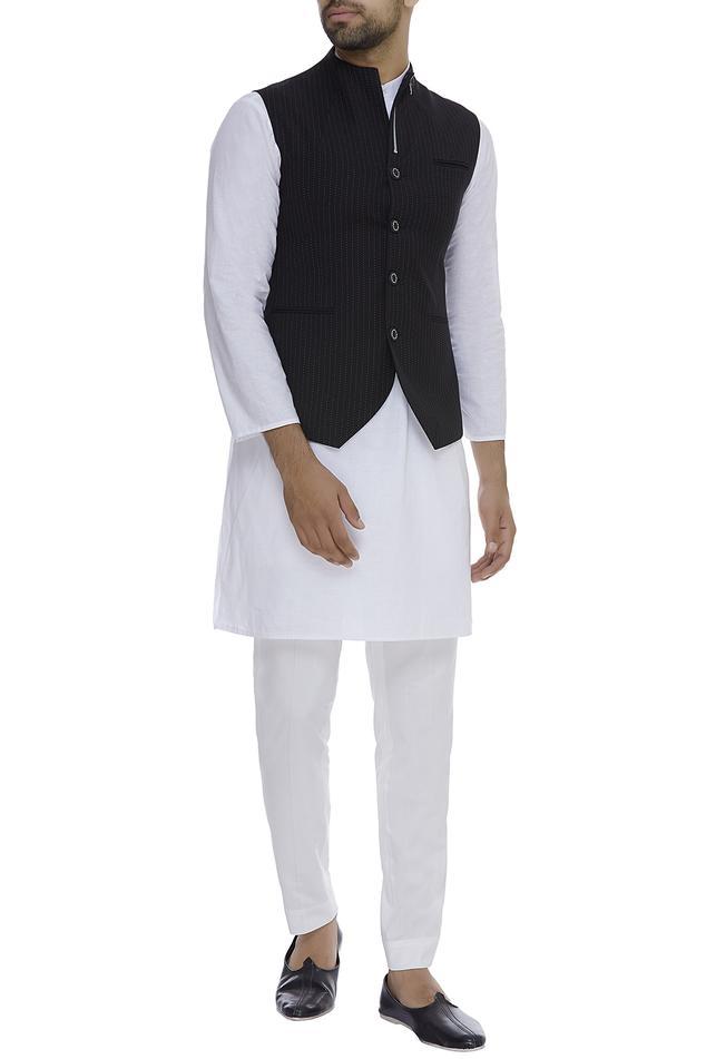 Nehru jacket with zipper detail