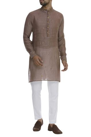 Nehru Collar Buta Embroidered Kurta