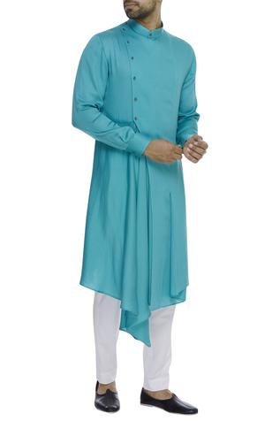 Draped asymmetric kurta