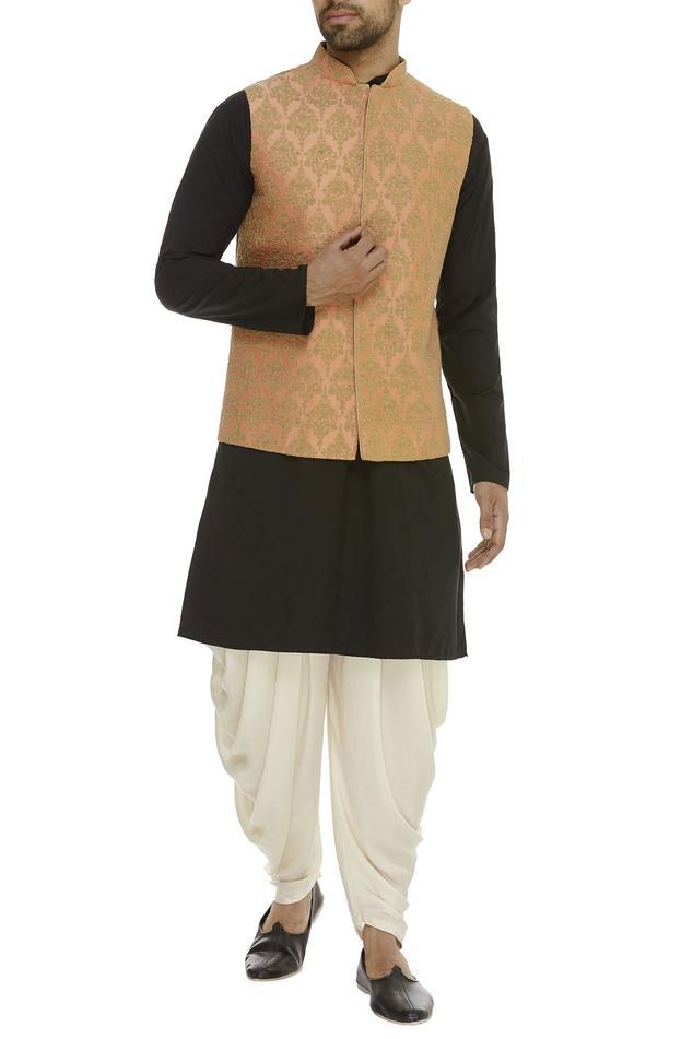 Cotton Silk Embroidered Bundi