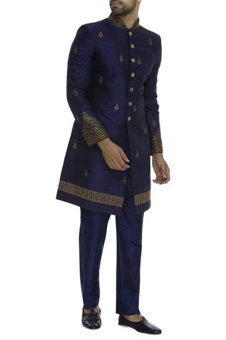 Hand Embroidered Sherwani With Pant