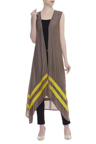 Asymmetric Open-Front jacket
