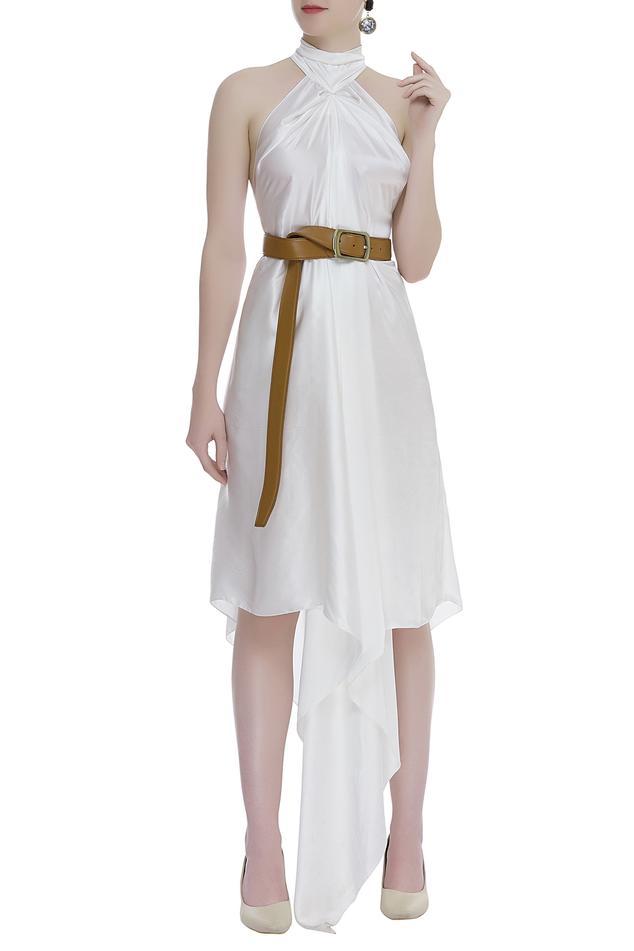 Halter Asymmetric Dress