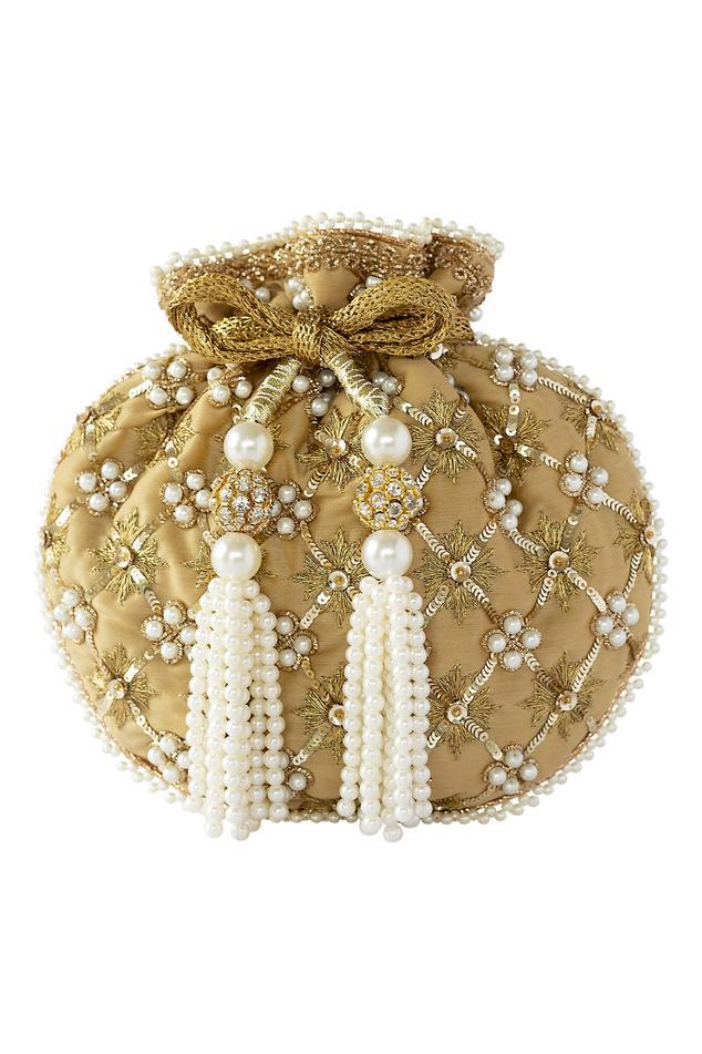 Pearl Jaal Embroidered Potli Bag