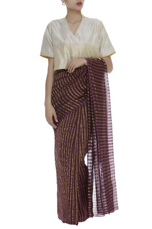 Cotton Silk Saree Blouse