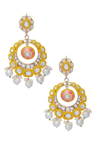 Meenakari Chandbali Dangler Earrings