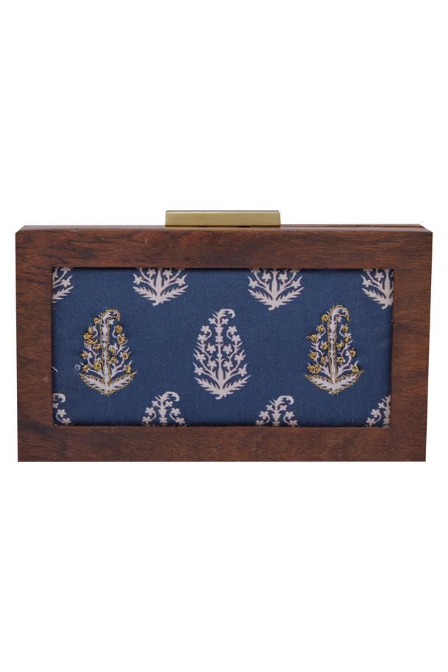 Paisley Printed Box Clutch Cum Sling bag