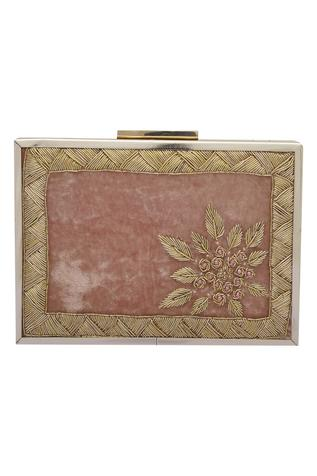 Zardozi Embellished Box Clutch Cum Sling bag
