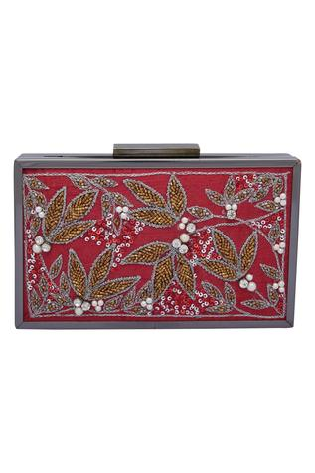 Floral Cutdana Embroidered Clutch Cum Sling bag