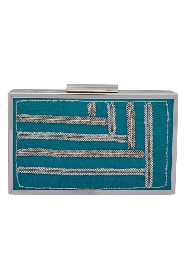 Cutdana Embroidered Box Clutch Cum Sling bag