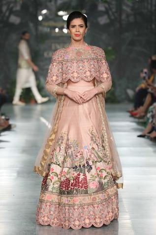 Floral Hand Embroidered Cape