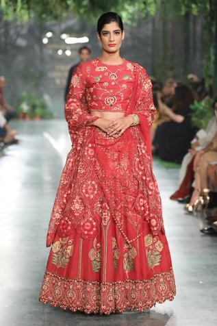 Floral jaal embroidered blouse