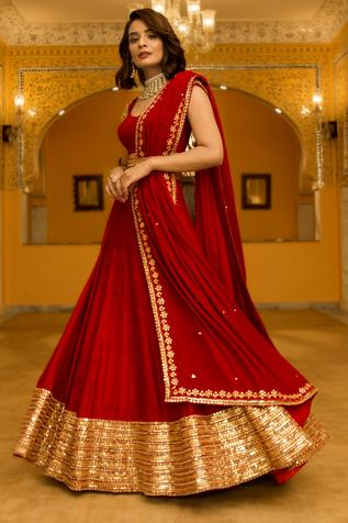 Gota Patti Embroidered Lehenga Set