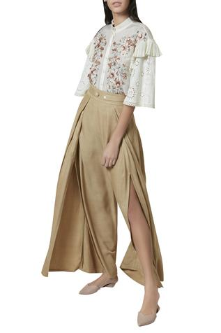 Wide Legged Slit Pants