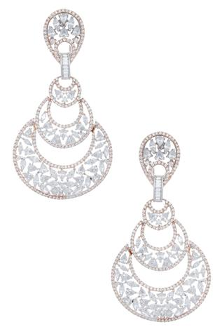 Layered chandbali style earrings