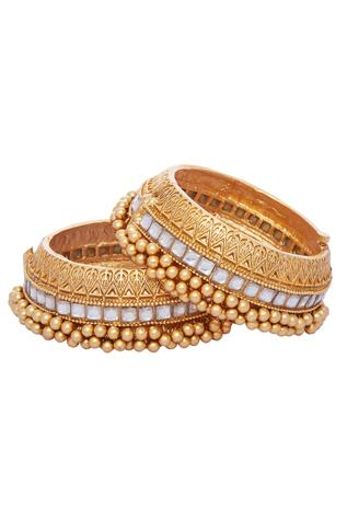 Kada with kundan work