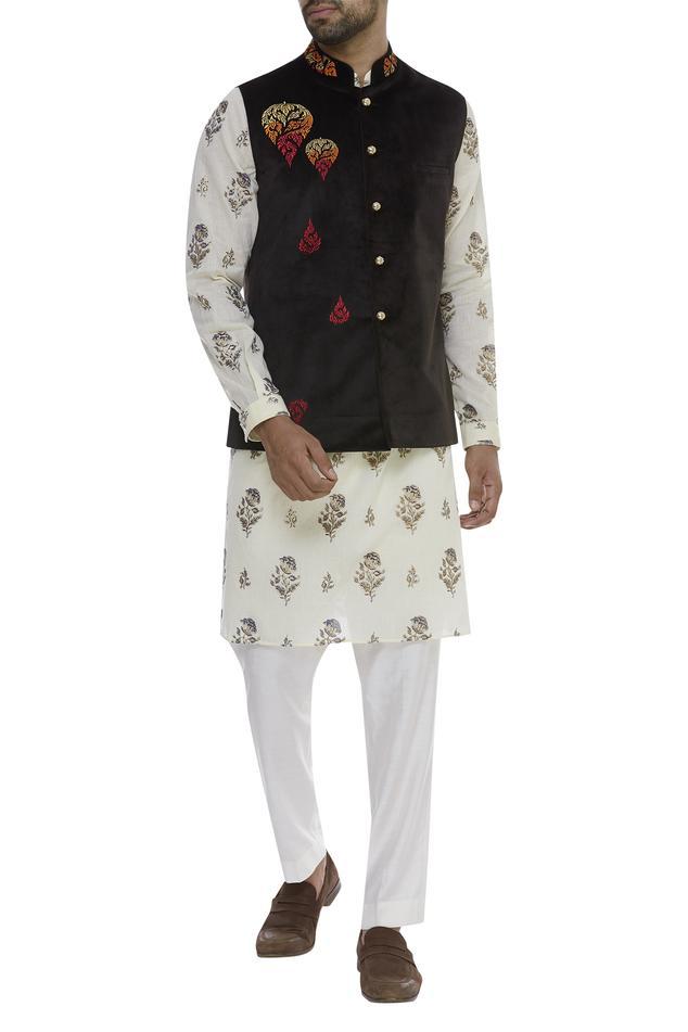 Resham Embellished Nehru Jacket