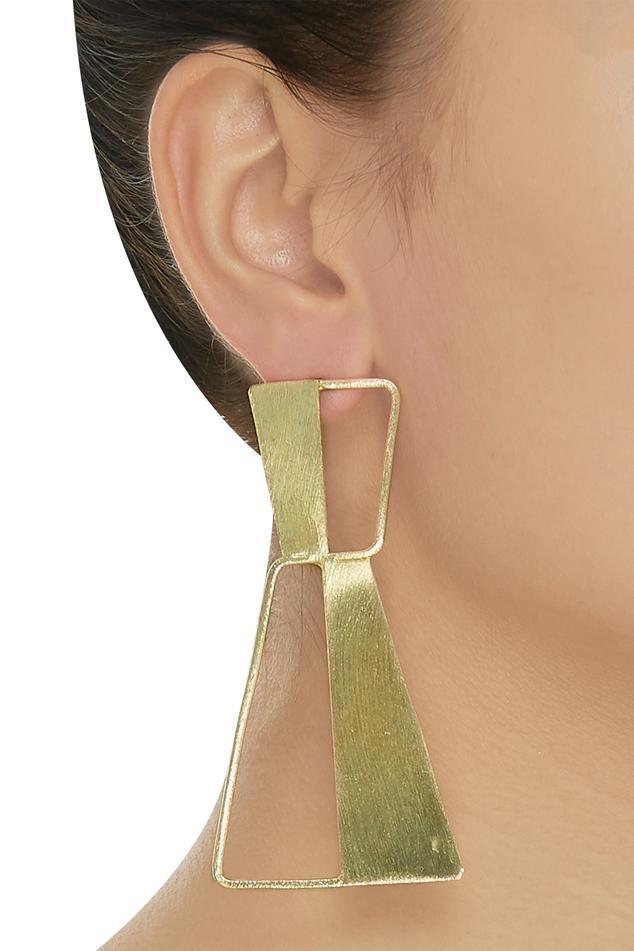 Half and half earrings