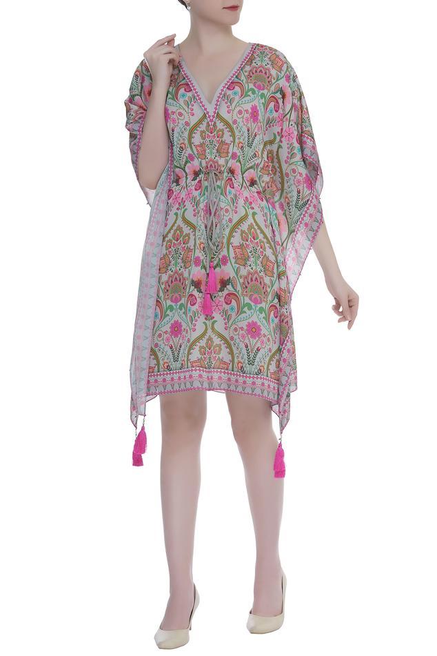 Paisley printed kaftan dress