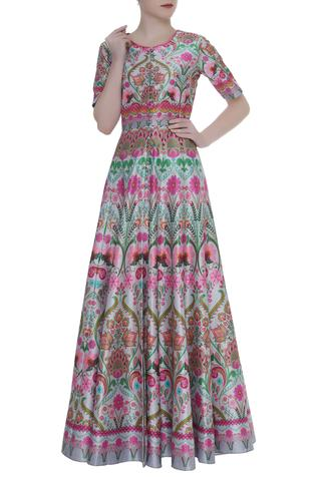 Floral Print Anarkali Tunic
