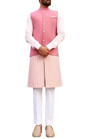 Sherwani set with detachable kurta panel