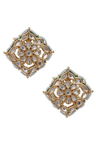 Kundan Embedded Stud Earrings