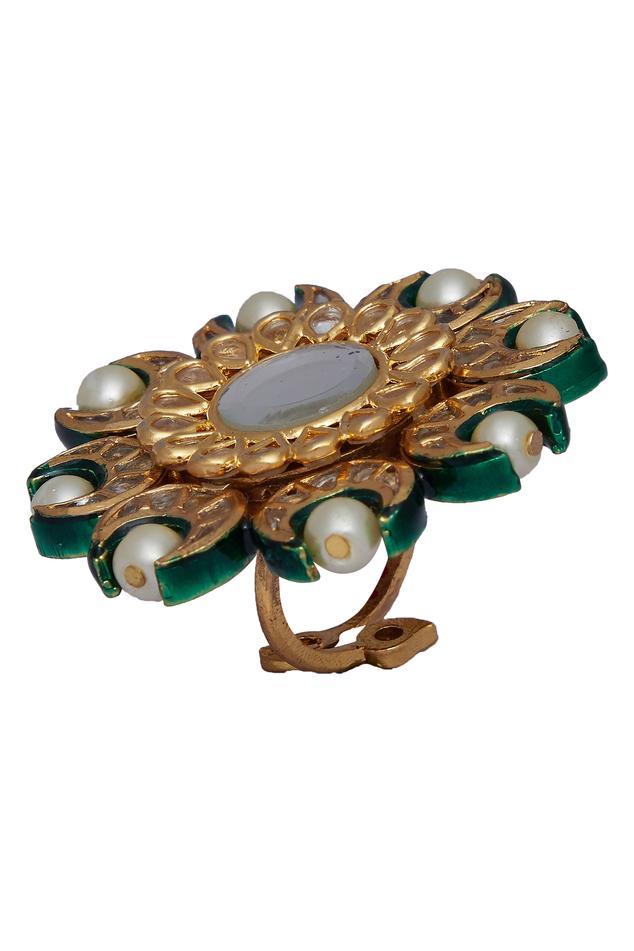 Meenakari Oversized Cocktail Ring