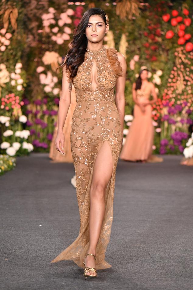 High Slit Embellished Gown
