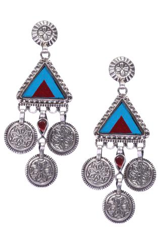 Handcrafted Coin Dangler Earrings
