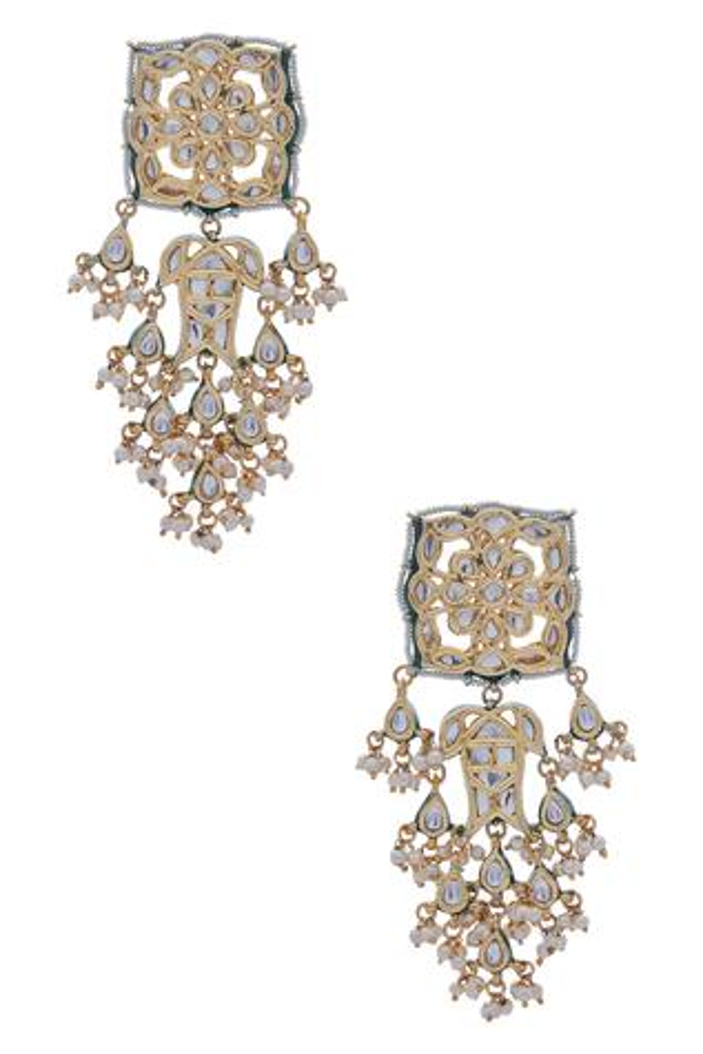Kundan & Pearl Dangler Earrings