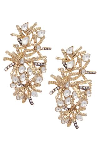 Spiked stone studded earrings