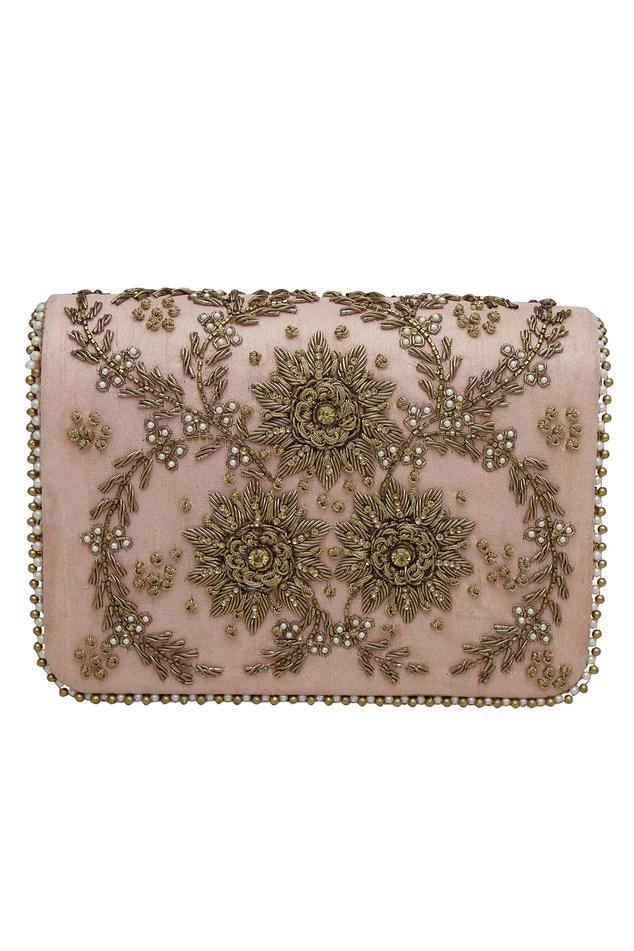 Zardozi embroidered clutch cum sling