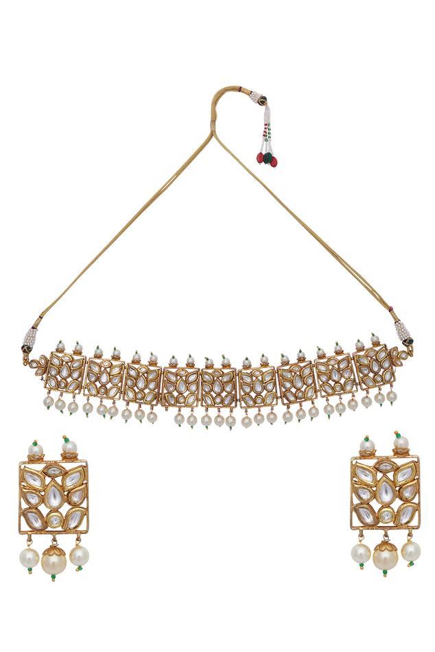 Kundan choker & earrings set