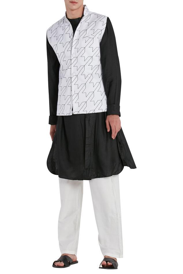 Geometric Print Nehru Jacket