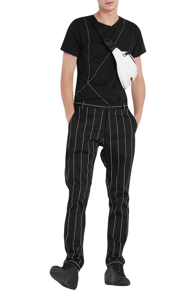 Stripe print trouser pant