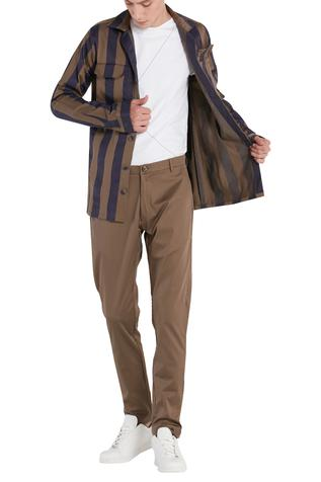 Broad Stripe Casual Jacket