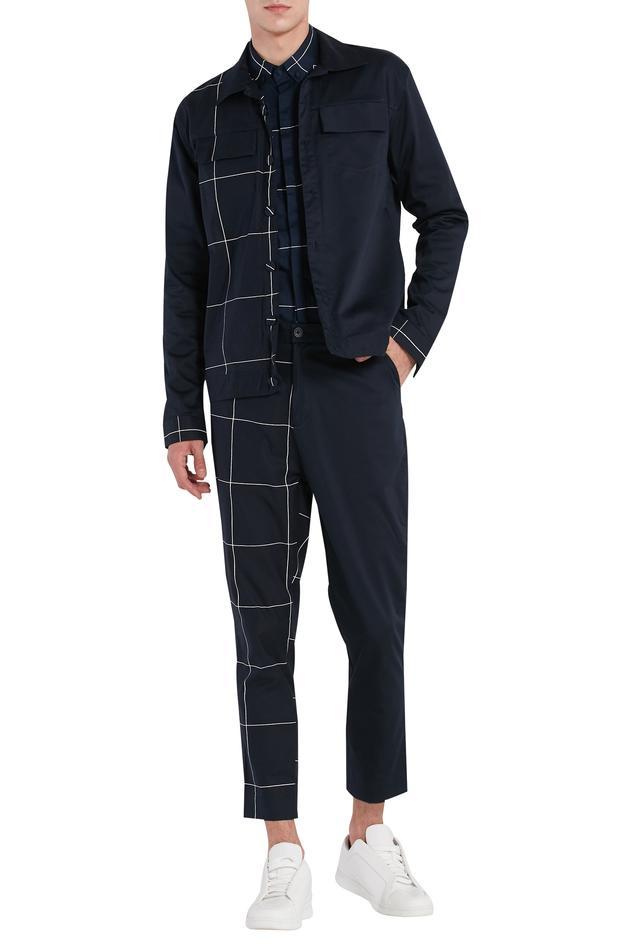 Half & half checkered jacket
