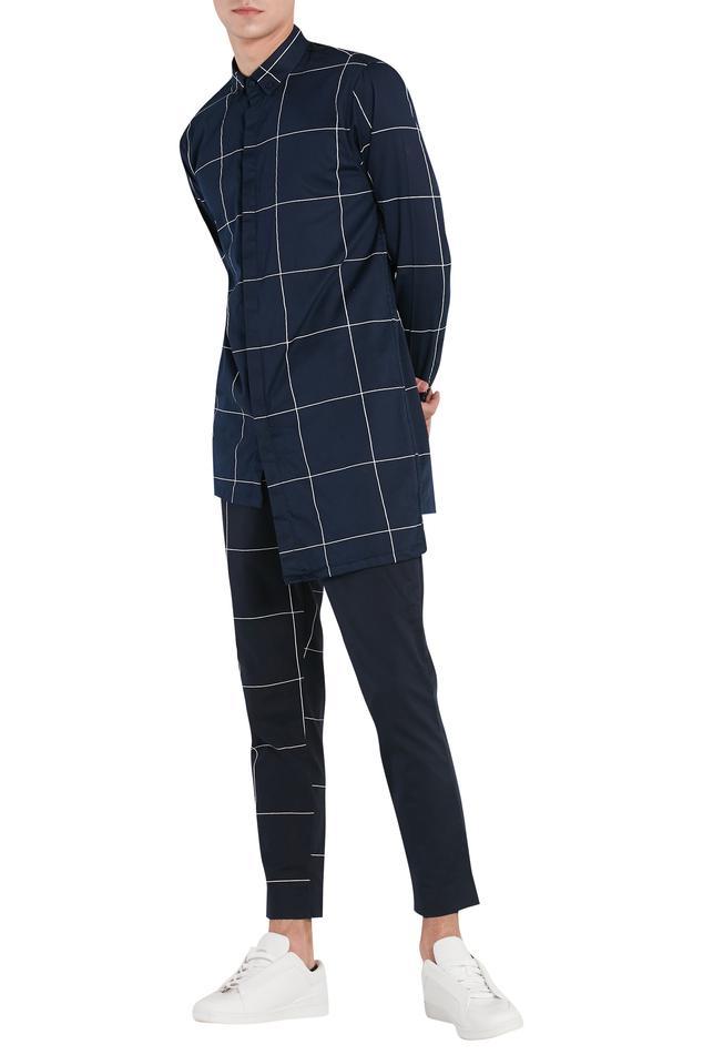 Check print trouser pant